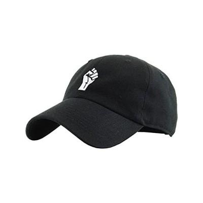 KBSV-029 BLK Fist Dad Hat Baseball Cap Polo Style Adjustable