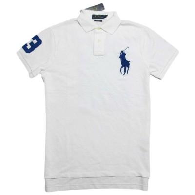 ポロ ラルフローレン POLO RALPH LAUREN メンズ Men's 半袖 ポロシャツ Custom-Fit Big Pony Polo ホワイト White
