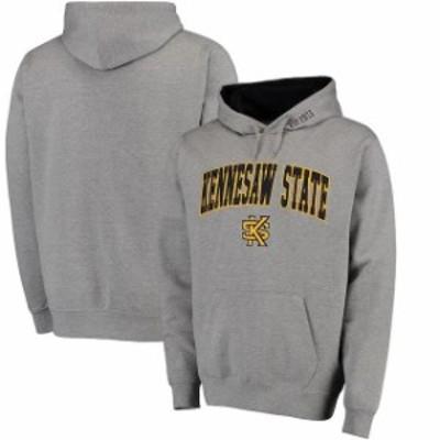 Stadium Athletic スタジアム アスレティック スポーツ用品  Kennesaw State Owls Gray Arch & Logo Pullover Hoodie