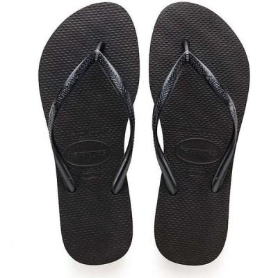 ハワイアナス Havaianas レディース サンダル・ミュール シューズ・靴 Slim Sandal Black