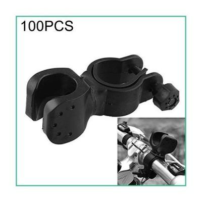 送料無料!ZHANGQUAN Zan Bike Mount HHJN 100 PCS 360 Degrees Rotation Mount Holder Clip Clamp, for Bicycle Bike Flashlight