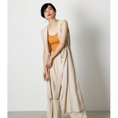 【50%OFF】 FRONT BUTTON VEST DRESS/フロントボタンベストドレス WOMENSレディース