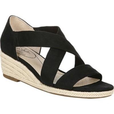 ライフストライド レディース サンダル シューズ Siesta Espadrille Wedge Sandal Black Textile