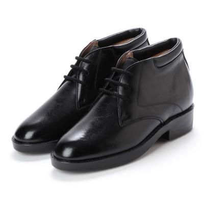 キタジマ 北嶋製靴 【7cmアップ】牛革ソフトブーツ シークレットシューズ シークレットブーツ  本革日本製 No.350 (ブラック)