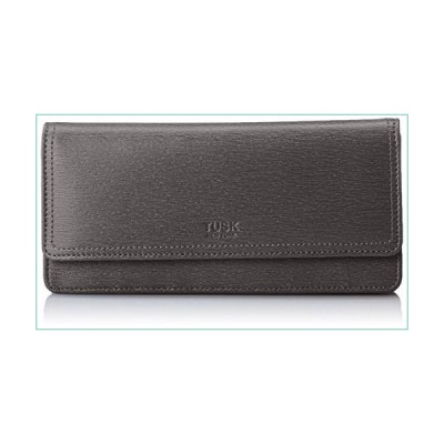 Tusk Women's Madison Gusseted Clutch Wallet, Black, One Size【並行輸入品】
