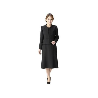 (マーガレット)m461 ブラックフォーマル レディース 喪服 アンサンブル 前開きワンピース 礼服 冠婚葬祭 (ブラック 13 号 P)