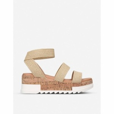 スティーブ マデン STEVE MADDEN レディース サンダル・ミュール シューズ・靴 Bandi elastic-strap platform sandals BEIGE COMB