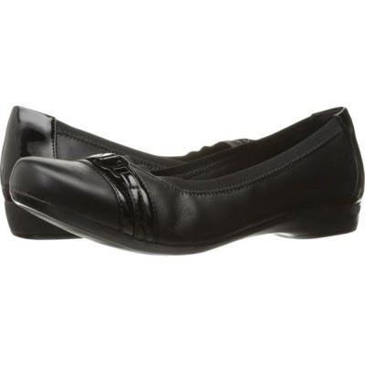 クラークス Clarks レディース スリッポン・フラット シューズ・靴 Kinzie Light Black Combo