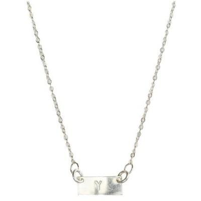ナシェル ネックレス・チョーカー・ペンダントトップ アクセサリー レディース Tiny Bar Necklace Silver Y