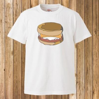 Tシャツ 半袖 メンズ レディース キッズ ハンバーガー バーガー2 ホワイト