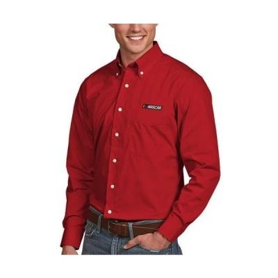 ユニセックス スポーツリーグ モータースポーツ NASCAR Antigua Daynasty Button-Down Woven Shirt - Red