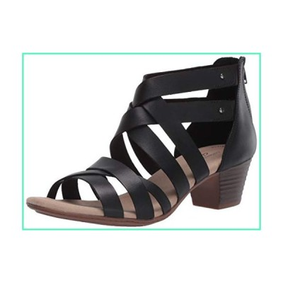 Clarks Women's Valarie Dream Heeled Sandal, Black Leather, 80 M US並行輸入品