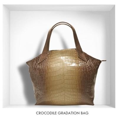 クロコダイルバッグ グラデーション レディースバッグ ハンドバッグ トートバッグ 送料無料(NO.1016gra) SALE (返品不可)