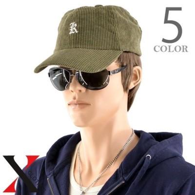 コーデュロイ イニシャル LOWCAP キャップ ベースボールキャップ メンズ 帽子 CAP カラバリ豊富 ロー