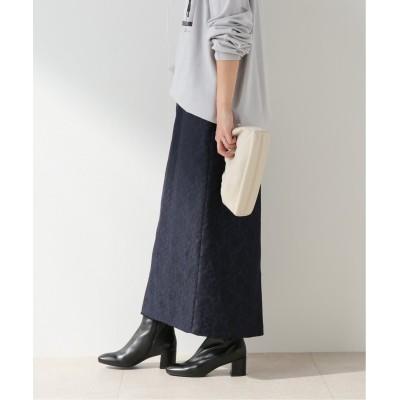 レディース フレームワーク 【AMOMENT】JACQUARD PADDED スカート ネイビー XS