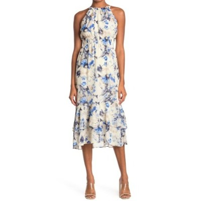 ラッシュ レディース ワンピース トップス Smocked Waist Floral Print Midi Dress IVORY FLOR