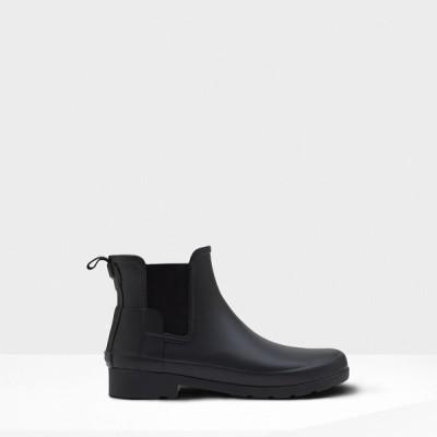 ハンター Hunter レディース ブーツ チェルシーブーツ シューズ・靴 Refined Chelsea Boots Black