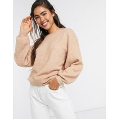 エイソス レディース ニット・セーター アウター ASOS DESIGN oversized fine crew neck sweater Dusky pink