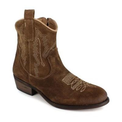 ジジソーホー レディース ブーツ&レインブーツ シューズ Women's Mireya Western Ankle Booties Brown Suede