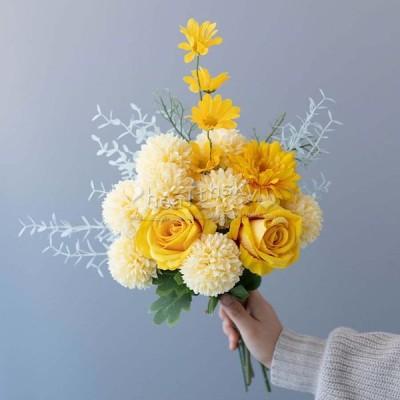 花 ブーケ ウエディングブーケ ウェディング用 ブライダルブーケ 花束 結婚式 披露宴 歓迎会 花嫁 造花 手作り プレゼント 写真撮り お誕生日 大人気 お祝い