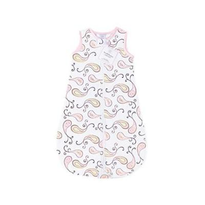 【並行輸入品】SwaddleDesigns Cotton Flannel Sleeping Sack, Pastel Pink Paisley, Small 0-6 Month, Made in the USA, Wearable Blanket wi