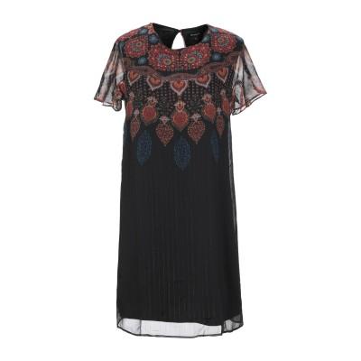 デシグアル DESIGUAL ミニワンピース&ドレス ブラック 38 ポリエステル 100% ミニワンピース&ドレス