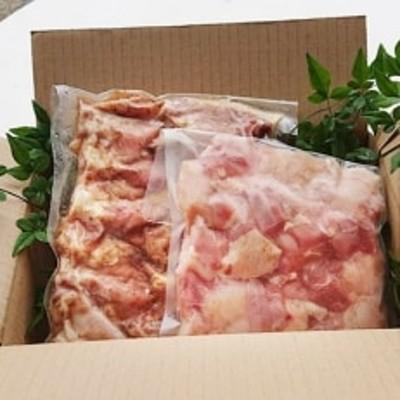 みやざき地頭鶏の手羽(約700g)と焼き鳥用切り込み肉(500g)(味つき)セット