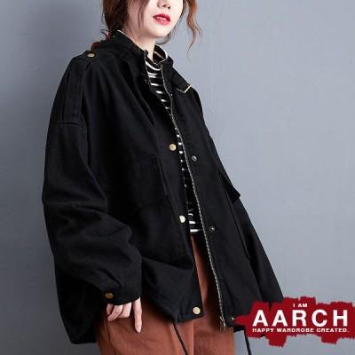 大きいサイズ ジャケット アウター レディース ファッション ぽっちゃり おおきいサイズ 対応 オーバーサイズ ミリタリー調 ブルゾン M L LL 3L 秋冬