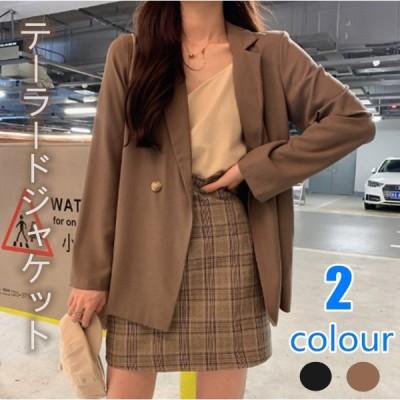 スーツジャケット レディース スーツ 長袖アウター おしゃれジャケット 任意の組み合わせ エレガント 2色 ゆったり 無地の模様