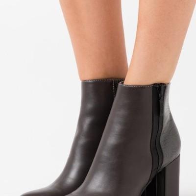 エスプリ レディース ブーツ VERONA - High heeled ankle boots - dark grey