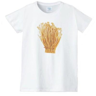 えのき 食べ物 野菜 スイーツ Tシャツ 白 レディース 女性用 jts128