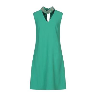 CLIPS ミニワンピース&ドレス グリーン 44 レーヨン 70% / アセテート 26% / ポリウレタン 4% ミニワンピース&ドレス