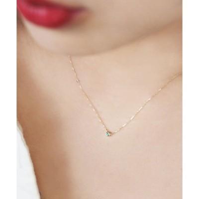 ネックレス 【誕生石】K10カラーストーンアミュレットネックレス