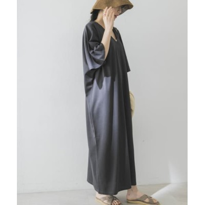 (URBAN RESEARCH/アーバンリサーチ)Goodwear LOOSE FIT MAXI ONE-PIECE/レディース チャコール