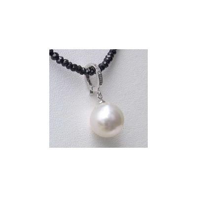 ネックレスペンダント 南洋真珠パール K18ホワイトゴールドネックレス ダイヤモンド 冠婚葬祭