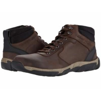 Clarks クラークス メンズ 男性用 シューズ 靴 ブーツ レースアップ 編み上げ Grove Hike Brown Leather Waterproof【送料無料】