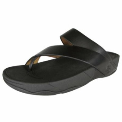 FitFlop フィットフロップ ファッション サンダル FitFlop man Slingshot Leather Strappy Open Toe Sandals All Black US 13