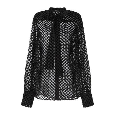 メッサジェリエ MESSAGERIE シャツ ブラック 38 レーヨン 90% / ナイロン 10% シャツ