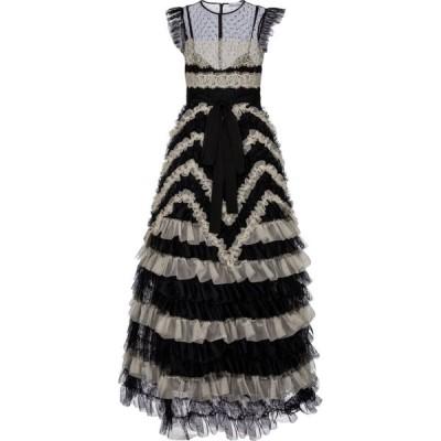 REDV レディース パーティードレス マキシ丈 ワンピース・ドレス redvalentino tulle maxi dress Nero/Avorio
