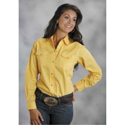 ユニセックス 衣類 トップス Roper 0265 Ladies Long Sleeve Poplin Shirt Yellow ブラウス&シャツ