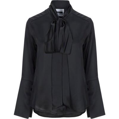 DIMORA シャツ ブラック 40 レーヨン 100% / ポリエステル シャツ