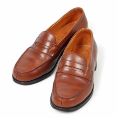 J.M.WESTON JMウエストン ウェストン シグニチャーローファー 55 コインローファー 4E ブラウン カーフ フランス製 メンズ 靴 革靴 紳士