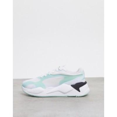 プーマ メンズ スニーカー シューズ Puma RS-X3 sneakers in green and black Puma white-puma blac