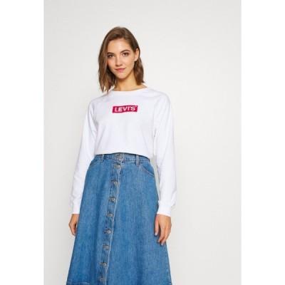 リーバイス パーカー・スウェットシャツ レディース アウター RELAXED GRAPHIC CREW - Sweatshirt - white