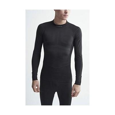 Craft Men's Active Intensity Long Sleeve Crew Neck Base Layer Shirt, Black/Asphalt, Large【並行輸入品】