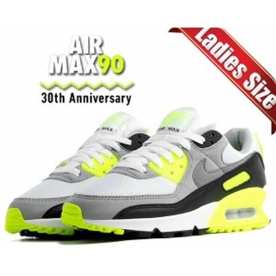 【ナイキ ウィメンズ エアマックス 90】NIKE WMNS AIR MAX 90 30th ANNIVERSARY white/particle-volt-black cd0490-101 スニーカー レデ