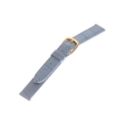 [トップモア]TOPMOA 時計バンド 牛(ワニ型押)カラー・ステッチ ライトブルー 12mm 04913 (ライトブルー 12mm)