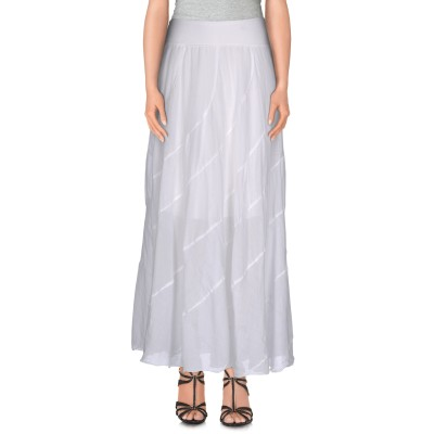 EUROPEAN CULTURE 7分丈スカート ホワイト XXS コットン 59% / ラミー 40% / ポリウレタン 1% 7分丈スカート