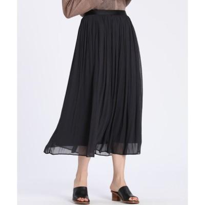 7-ID concept / シフォンプリーツスカート
