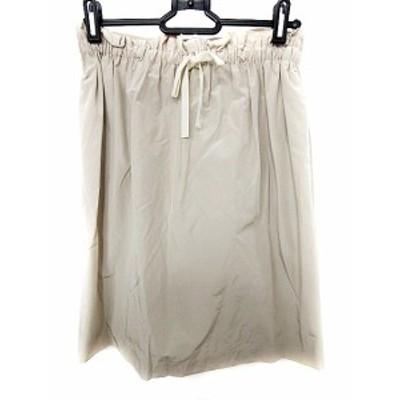 【中古】デプレ DES PRES トゥモローランド スカート ひざ丈 台形 リボン 1 ベージュ /AAO20 レディース